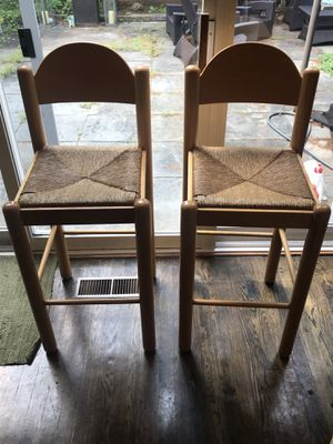 Matching wooden stools for Sale in Rockville, MD