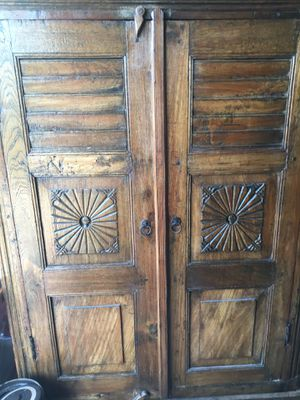 Antique Carved Armoire from India with Hardware for Sale in San Diego, CA