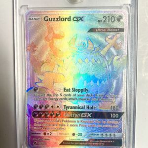 Guzzlord GX Rainbow Secret Rare Full Art Holo - Crimson Invasion #116/111 - MINT for Sale in Virginia Beach, VA