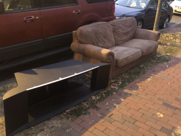 FREE! Couch and tv stand