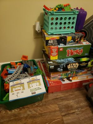 Lot of games toys tracks puzzles for Sale in Sanford, NC