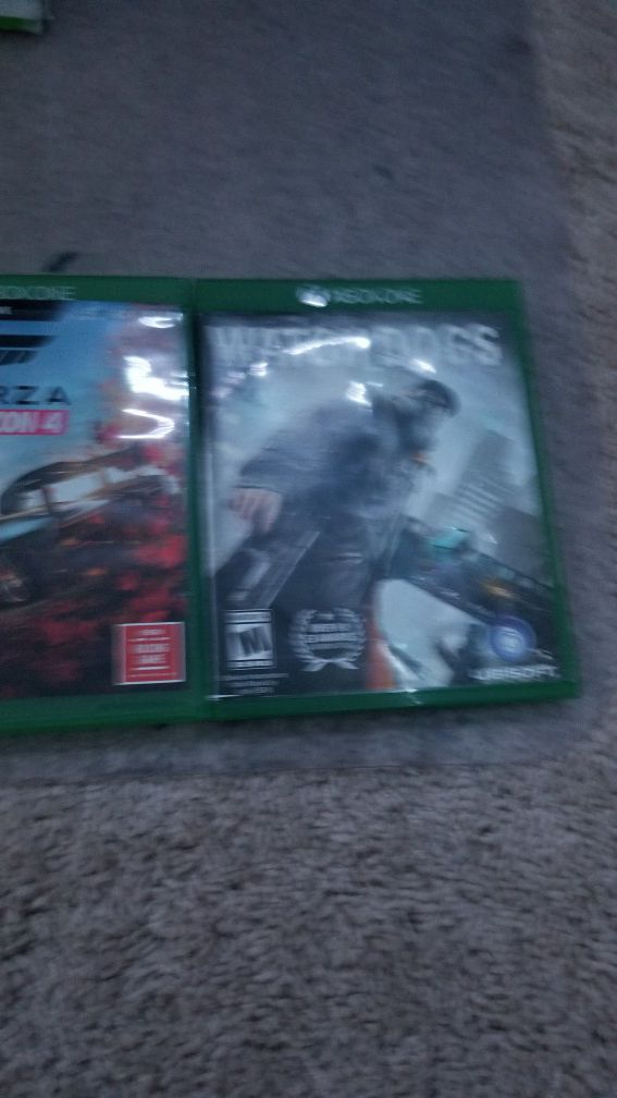 X box one s with a lot games