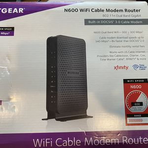 Netgear N600 Wifi Cable Modem Router for Sale in Mansfield, TX