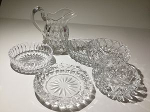 VINTAGE LOT OF CRYSTAL CLEAR ART GLASS 6 PIECE COLLECTION for Sale in Ocoee, FL