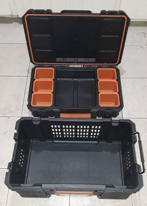 2 piece RIDGID Modular Storage Portable Tool Box System. for Sale in Tempe, AZ