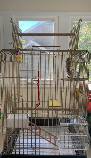 Bird Cage Habitat Fit For Cockatiels, Parrots With Perch And Stand for Sale in Gaithersburg, MD