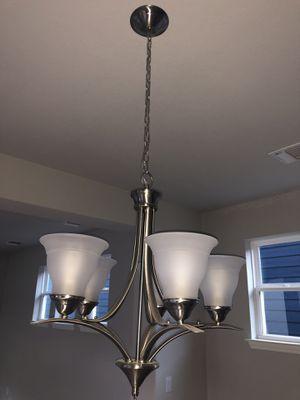 Satin nickel chandelier for Sale in Austin, TX