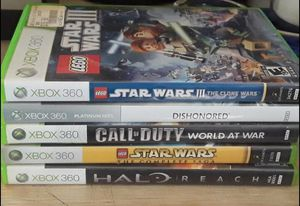 Xbox 360 games $5 each or 5 for $20 for Sale in Aliquippa, PA