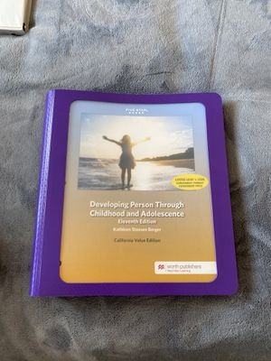Developing person through childhood and Adolescences(Eleventh Edition) for Sale in Perris, CA