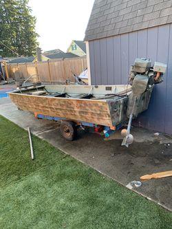 Jon boat with mud motor for Sale in Everett,  WA