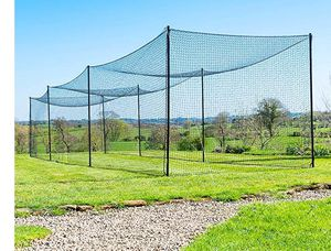 FORTRESS 55FT BASEBALL BATTING CAGE NETS [2 PIECE CAGE] 42 Grade Net with Steel Poles 55ft. for Sale in Tampa, FL
