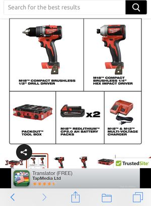 Milwaukee 2892-22CTPO 18-Volt 2-Tool Cordless Lithium-Ion Packout Combo Kit this regular price in the store $279 plus tax total $300.62. And I asking for Sale in Redlands, CA