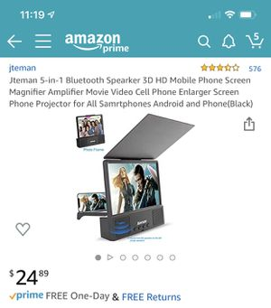 Mobile screen magnifier with speakers and Bluetooth for Sale in Chula Vista, CA