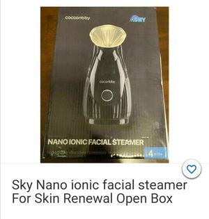 Sky Nano Ionic Facial Steamer For Skin Renewal Open Box Cocconbby Extractor Kit for Sale in Chicago, IL