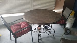 4 ft real wooden table with 2 chairs for Sale in St. Petersburg, FL