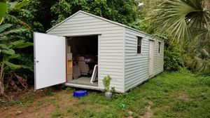 12 x 24 foot shed wood frame with vinyl siding wired for power for Sale in Sarasota, FL