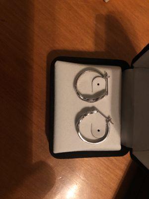Black diamond hoop earrings for Sale in Harrisburg, PA