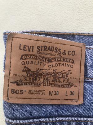 Levi Blue Jeans 505 - w38 L30 for Sale in Miami, FL