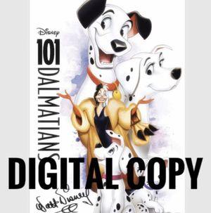 Disney 101 Dalmatians Digital Code for Sale in Los Angeles, CA