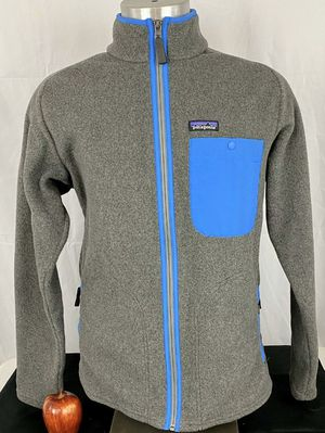 Patagonia Men's Synchilla Jacket Karstens Full Zip Grey/Blue Zip Jacket. Medium for Sale in Mesquite, TX
