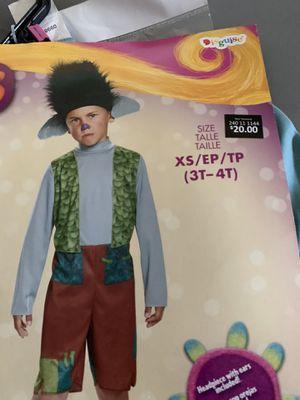 Trolls branch kids costume 3-4t for Sale in Norwalk, CA