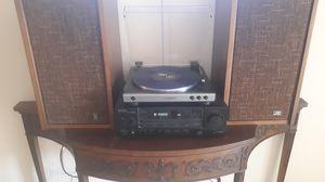 Vintage JVC speakers Onkyo reciever aand bluetooth turntable for Sale in Tucson, AZ