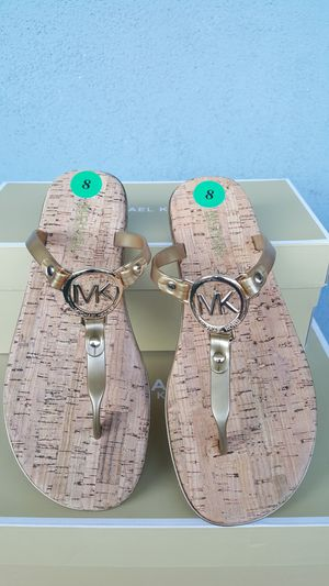 New Authentic Michael Kors Women's Goldtone Sandals Size 8 and 10 ONLY for Sale in Montebello, CA