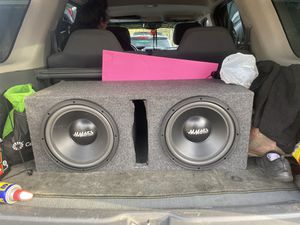 Mmats 12 subs with box for Sale in Denver, CO
