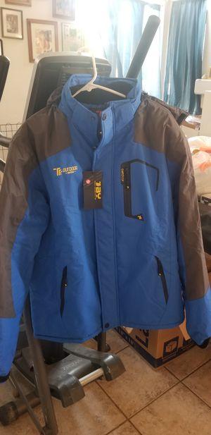 JINSHI Men's Mountain Waterproof Fleece Jacket for Sale in Henderson, NV