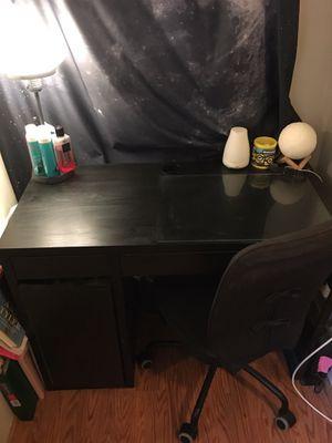 Black ikea desk for Sale in Boston, MA