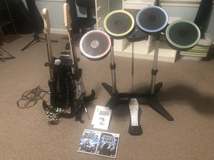 Rock Band 2 drums and guitar set for Sale in Windsor, CT