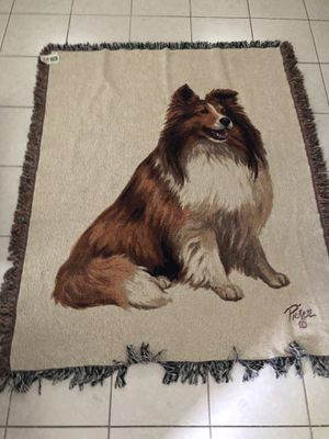 LASSIE COLLIE THROW-BLANKET for Sale in Upland, CA