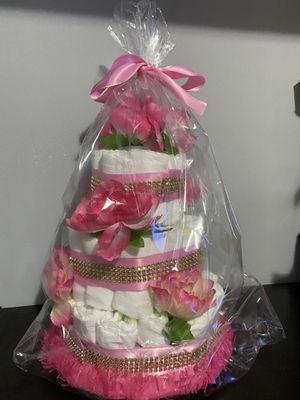 Pretty in Pink Diaper cake for Sale in Falls Church, VA