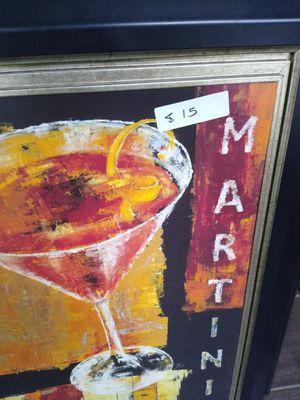 Wall art Martini glass for Sale in Tampa, FL