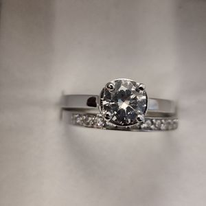 SET OF 2 SILVER & CUBIC ZIRCONIA ENGAGEMENT RINGS for Sale in Phoenix, AZ