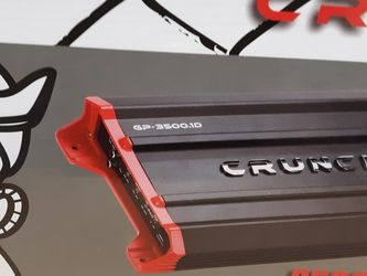 CRUNCH 3500 Watts Monoblock 1 Ohm Stable Car Amplifier built in crossover 30a×2 fuses for Sale in Bell Gardens,  CA