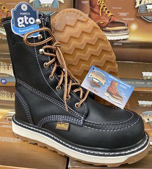 Work boots slip resistant waterproof real leather no china made in mexico botas de trabajo piel estamos en sylmar for Sale in Sylmar, CA