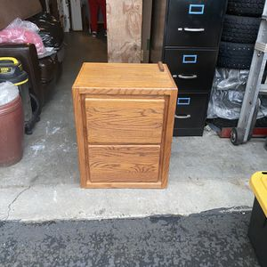 Wooden file cabinet for Sale in Vancouver, WA