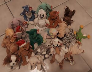 21 original ty beanie babies. for Sale in Homestead, FL