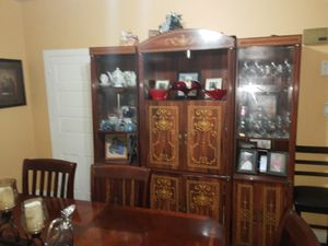 Dining room table wall unit for Sale in Burlington, NJ