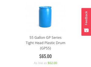 55 Gallon GP Series Tight Head Plastic Drum (New) Never used!!! for Sale in Rialto, CA