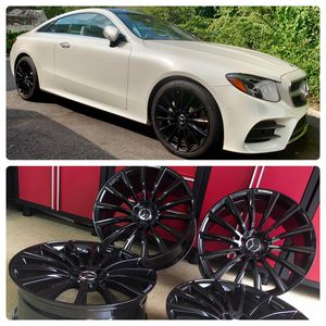 18 inches Mercedes Benz amg rims brand new gloss black wheels for Sale in West Caldwell, NJ