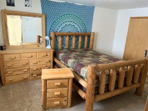 Log frame bed set for Sale in Ellensburg, WA