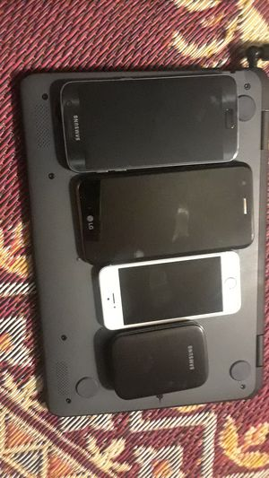 7 s needs battery and cover lgk20 iPhone 5 and dongle 50for all for Sale in Clovis, CA