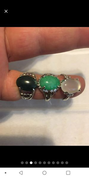 Silver plated rings / size 8 for Sale in Delmar, NY
