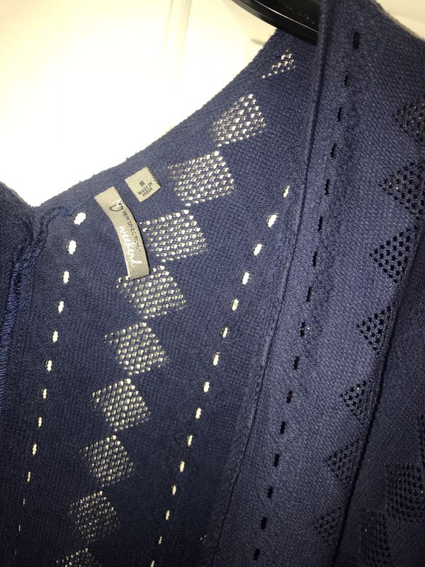 Women's small bohemian navy cardigan
