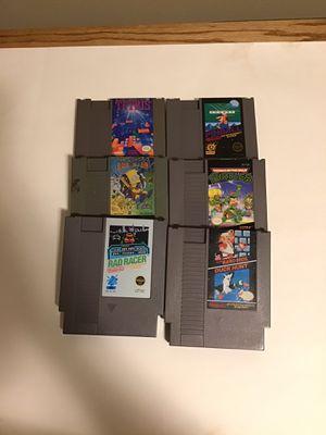 Nintendo nes games Mario tmnt for Sale in Sycamore, IL