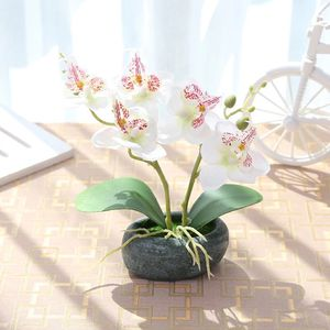New Butterfly Orchids Artificial Flower Bonsai Silk Flower in Pots for Wedding Home Garden Decoration Fake Flower with Vases for Sale in Kent, WA