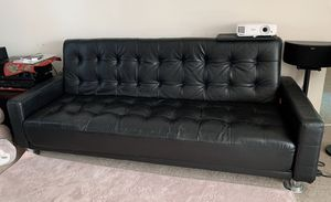 Black faux leather futon for Sale in Oakland, CA