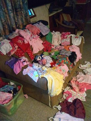 Baby girl items, pack n play, tons of cloths, boppie w/ cover, changing pad w/cover, dresser ,w/Changing table, etc... for Sale in Nashville, TN